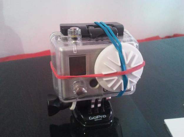 GoPro Housing Lens Cap in White Natural Versatile Plastic