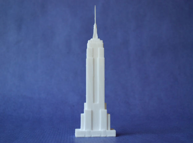 Empire State in White Natural Versatile Plastic