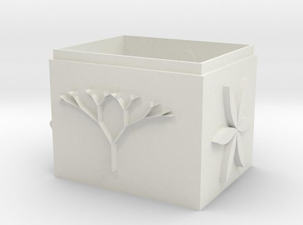 flower pot 花盆 in White Natural Versatile Plastic