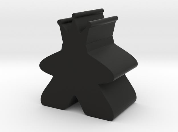 King Meeple in Black Natural Versatile Plastic