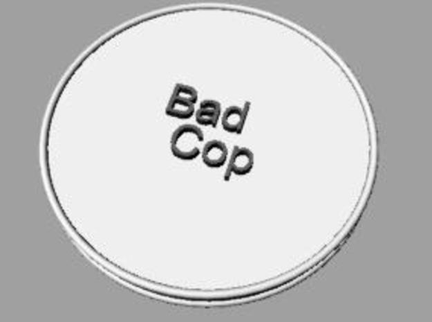 Good Cop/Bad Cop Coin 3d printed Description