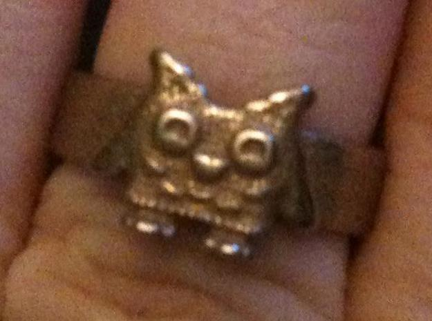 Owl Ring size 7 3d printed