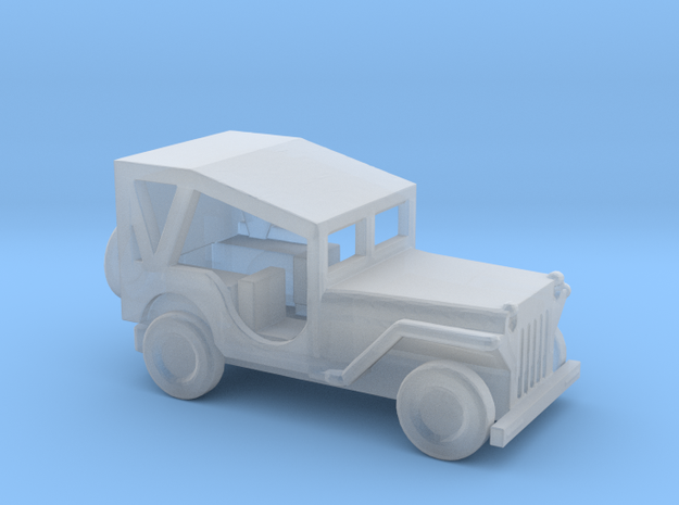 1/144 Scale MB Jeep Covered in Smooth Fine Detail Plastic