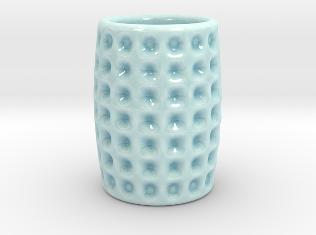 DRAW shot glass - Tricky Nicky in Gloss Celadon Green Porcelain