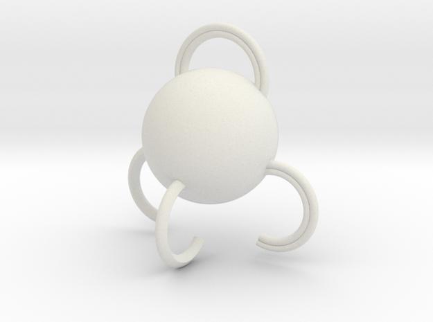 Portable hook in White Natural Versatile Plastic