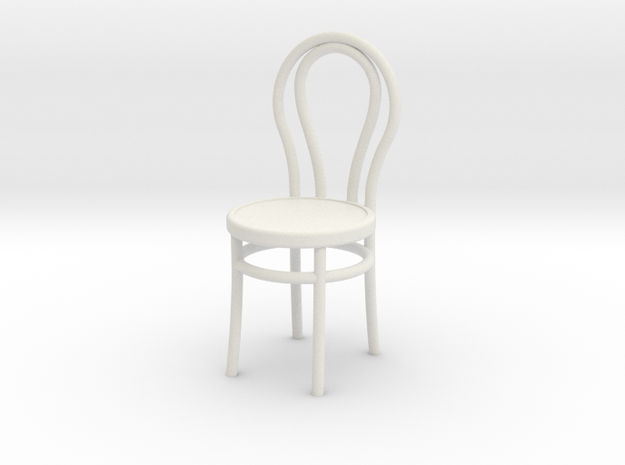 Bentwood Chair in White Natural Versatile Plastic