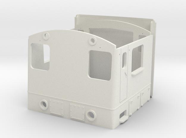 NS 2200 cabin scale 0 (1:45) in White Natural Versatile Plastic