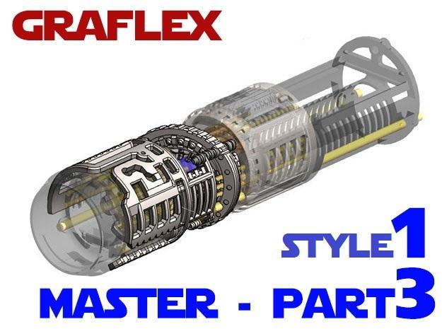 Graflex Master Chassis - Part 3/5 Var1 - Shell2 in White Natural Versatile Plastic