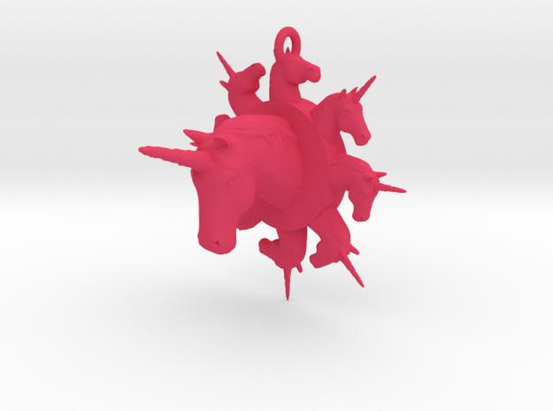 many unicorn pendant in Pink Processed Versatile Plastic