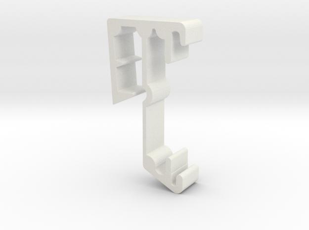 Blind Valance Clip 28C in White Natural Versatile Plastic