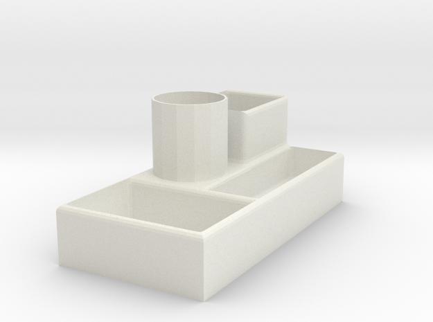 Storage box in White Natural Versatile Plastic