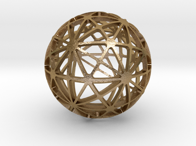 DISDYAKIS_TRIACONTAHEDRON in Polished Gold Steel