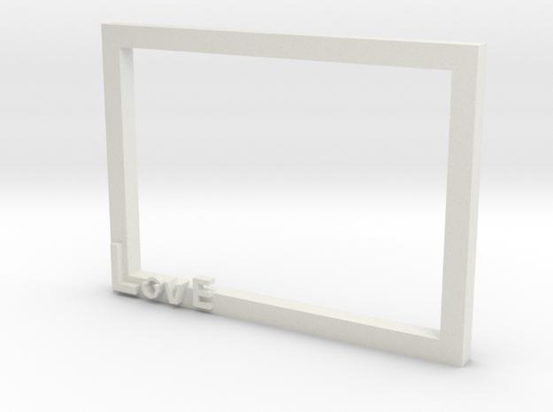 Photo frame in White Natural Versatile Plastic