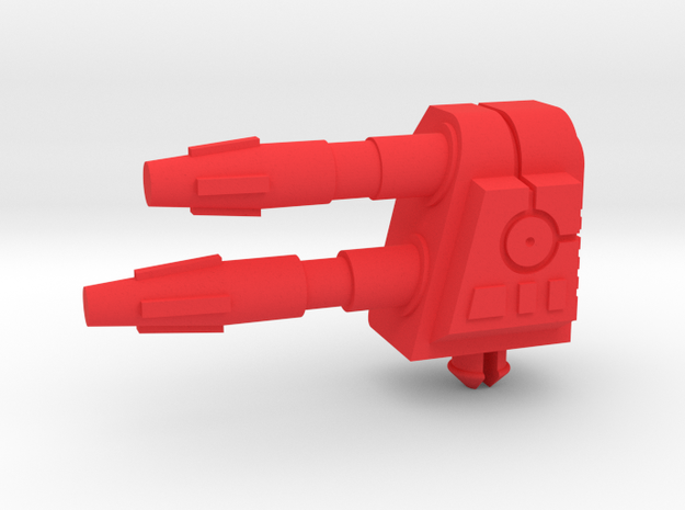 Starcom Missile Fox Cannon (LH) in Red Processed Versatile Plastic