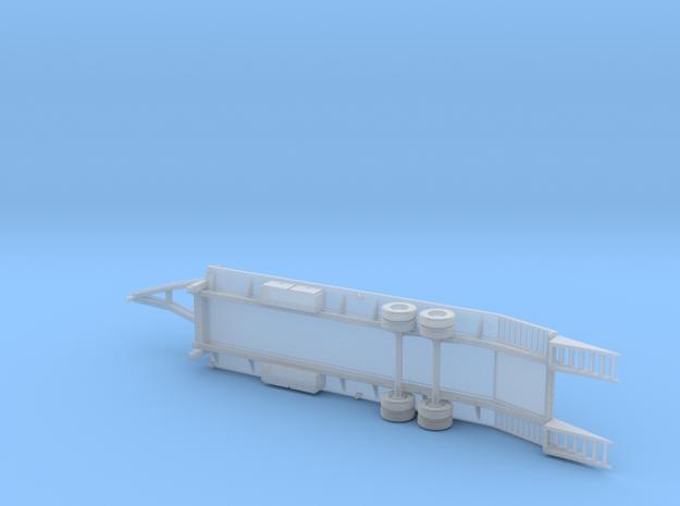 25+5 Gooseneck Equipment Float - 2 Ramp - Loading in Smooth Fine Detail Plastic