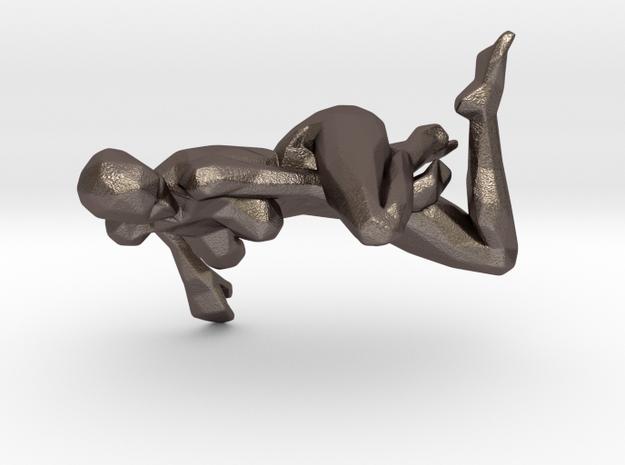 posed digital beauty in Polished Bronzed Silver Steel