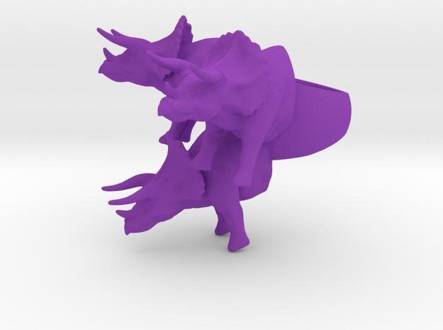 crazy big triceratops ring size 9 in Purple Processed Versatile Plastic