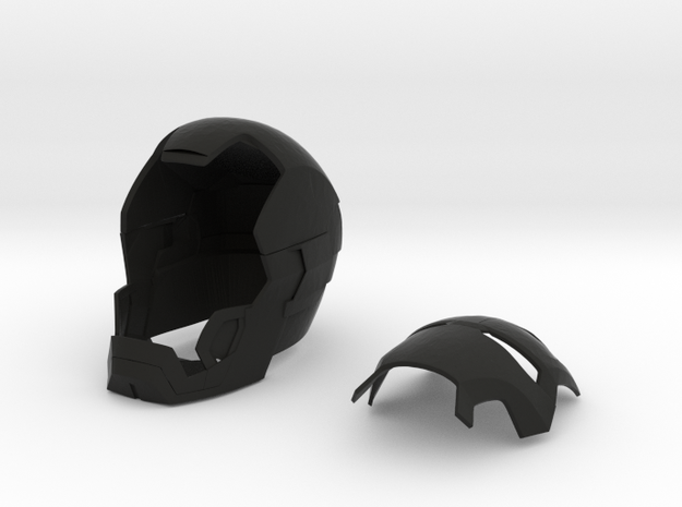 Iron man helmet (mark 42) in Black Natural Versatile Plastic