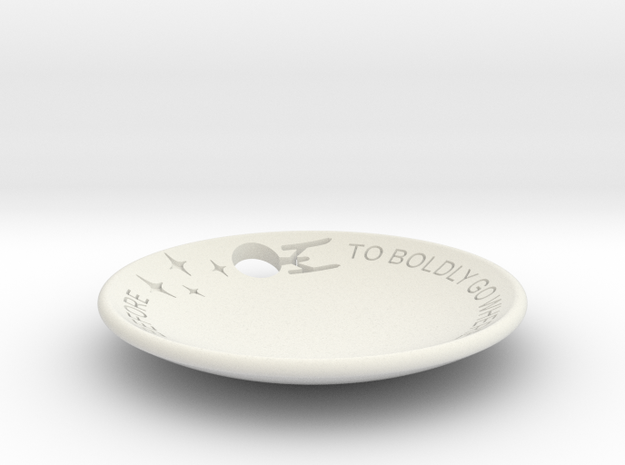 To Boldly Go... Dish Full Cut Out in White Natural Versatile Plastic