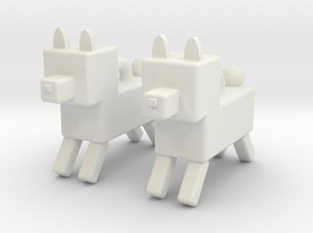 dog in White Natural Versatile Plastic: Small