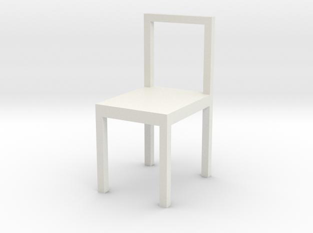 106102231 Chair in White Natural Versatile Plastic
