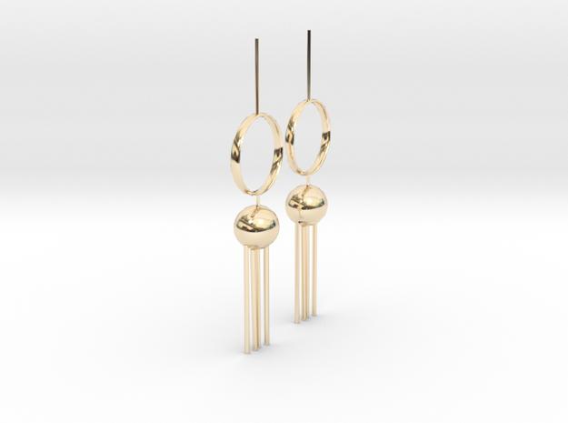 Pendulum in 14k Gold Plated Brass