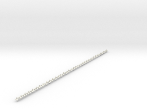 1:6 scale spiked chain 64cm in White Natural Versatile Plastic