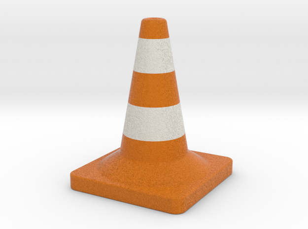 Traffic cone full colors in Full Color Sandstone
