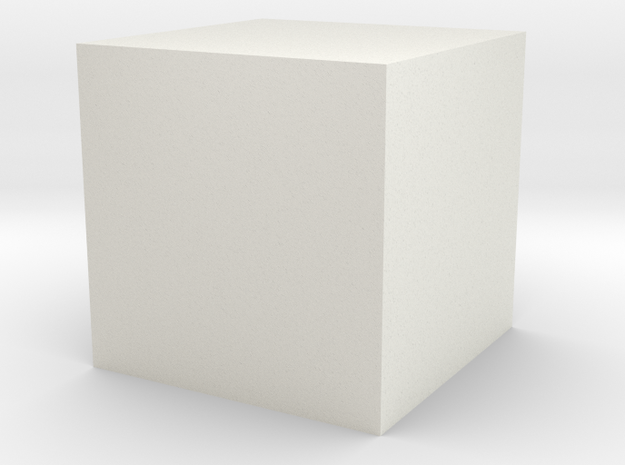 Building Blocks in White Natural Versatile Plastic