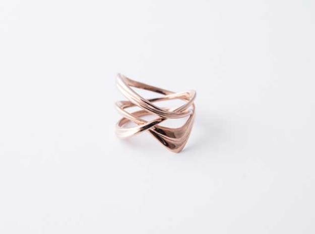 Milkyway Ring size US 7.5  in 14k Rose Gold Plated Brass