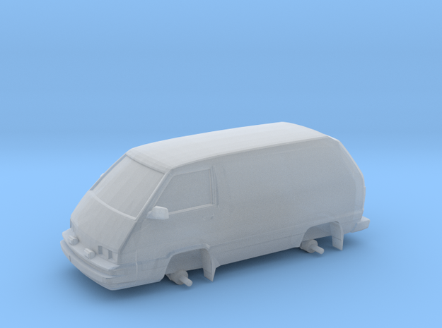 "1/87 Scale 4x4 Mini Van ""Panel Toy"" in Smooth Fine Detail Plastic"