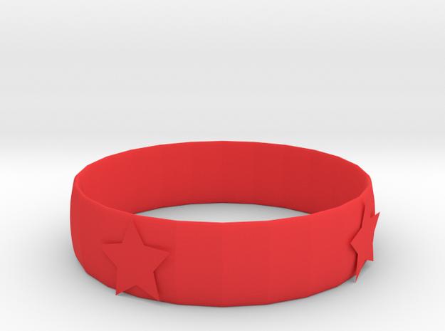 106102226 星星手環 in Red Strong & Flexible Polished: Small