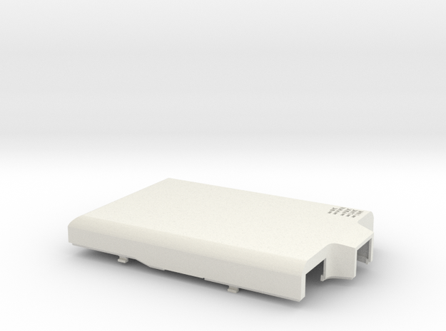 Raspberry Pi B case - top in White Natural Versatile Plastic