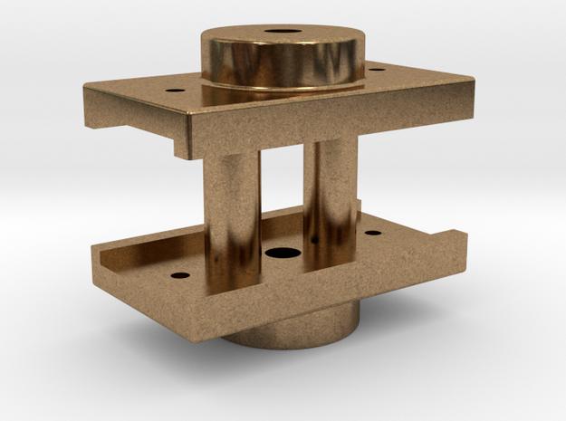 Mogul - Tender Center Plate REV .625 plus 1% in Natural Brass
