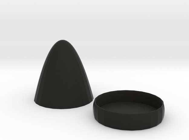 dice cup in Black Natural Versatile Plastic
