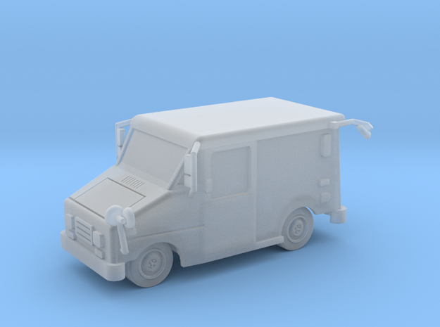 Mail Truck 1-87 HO Scale Filled Windows in Smooth Fine Detail Plastic