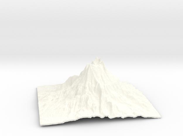 Mountain 1 in White Processed Versatile Plastic: Small