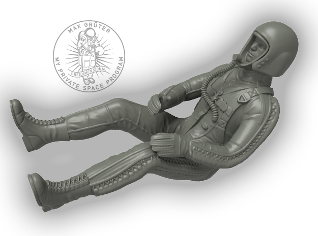 Partial Pressure Suit Pilot / 1:24 in Frosted Extreme Detail