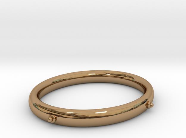 Bangle (OVAL) Medium in Polished Brass