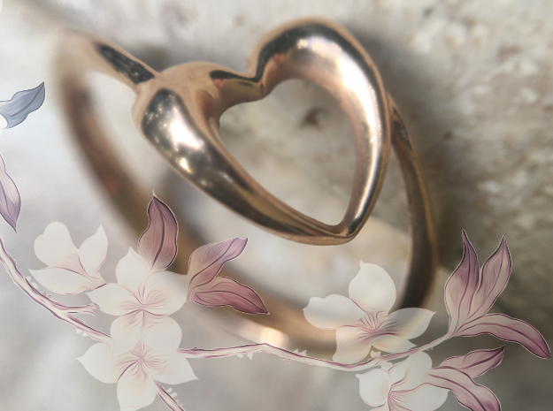 Show the love: Heart Ring in 14K Yellow Gold: 7 / 54
