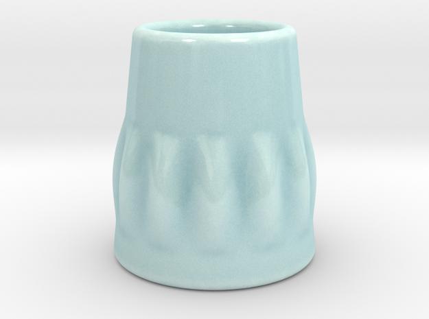 DRAW shot glass - Hurricane Hank in Gloss Celadon Green Porcelain