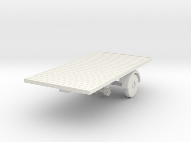 mh-87-scammell-mh6-trailer-15ft-flat in White Natural Versatile Plastic