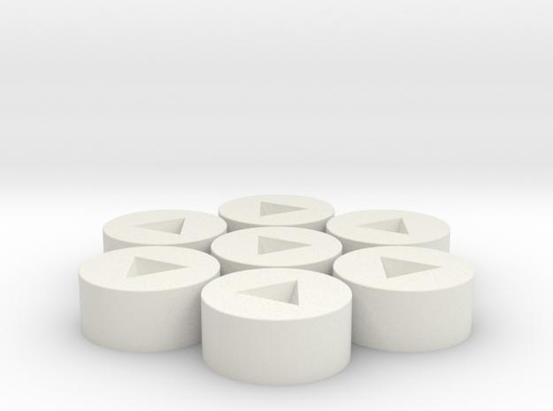 7x D4 Inverted Socket in White Natural Versatile Plastic