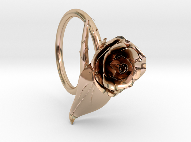 Rose Ring in 14k Rose Gold Plated Brass