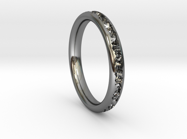 Destroyed ring - Size 9 in Fine Detail Polished Silver