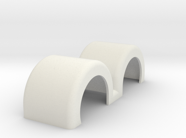 Fenders DoublePartSwept in White Strong & Flexible