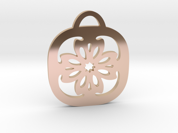 """""""For Luck"""" Pendant in 14k Rose Gold Plated Brass"""