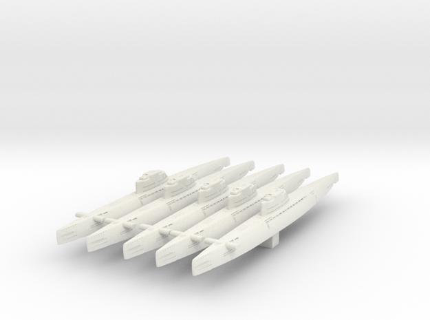 5 type XXI Submarine