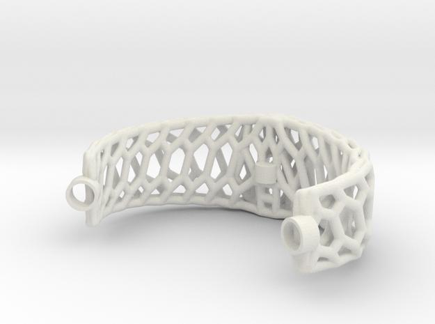 Mod. 80330-Voronoi in White Natural Versatile Plastic