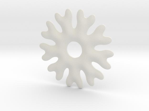 Soft snowflake base chape in White Natural Versatile Plastic